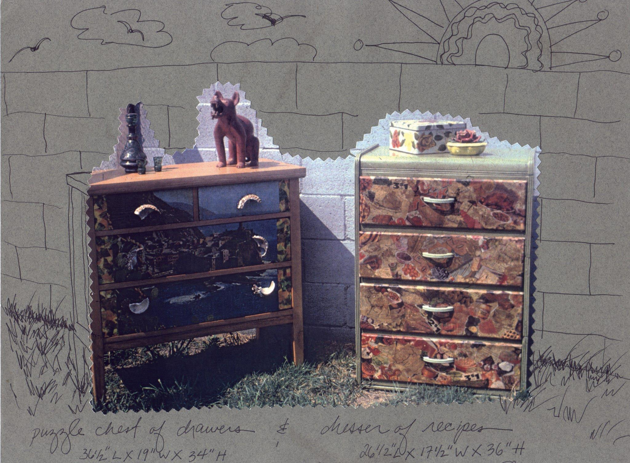 Puzzle and Food Dressers