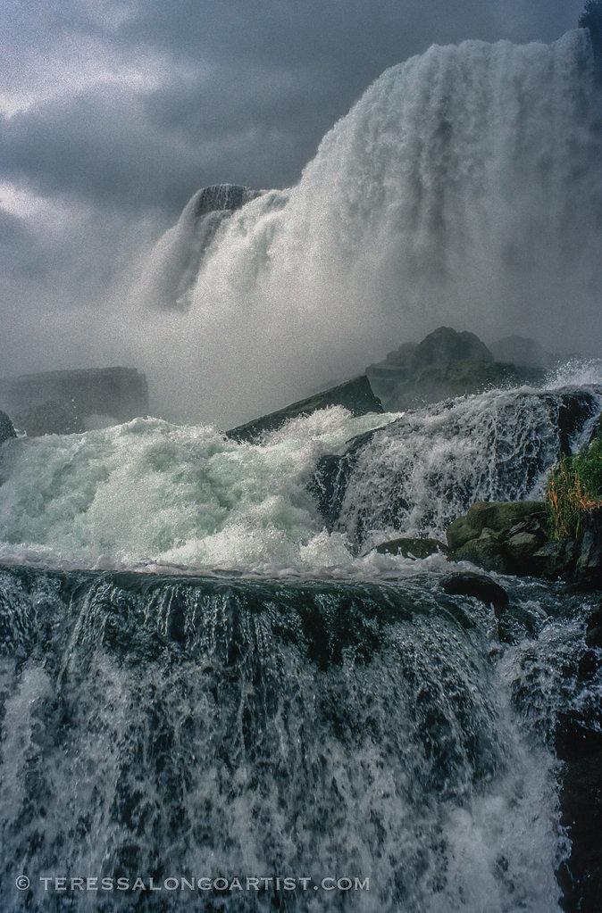 Niagra Falls looking from Canada