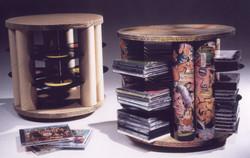 Repurposed Rotating CD Stands