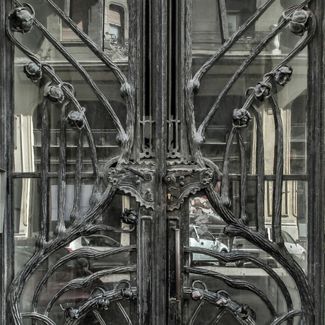 Nouveau Door Budapest Hungary  2016