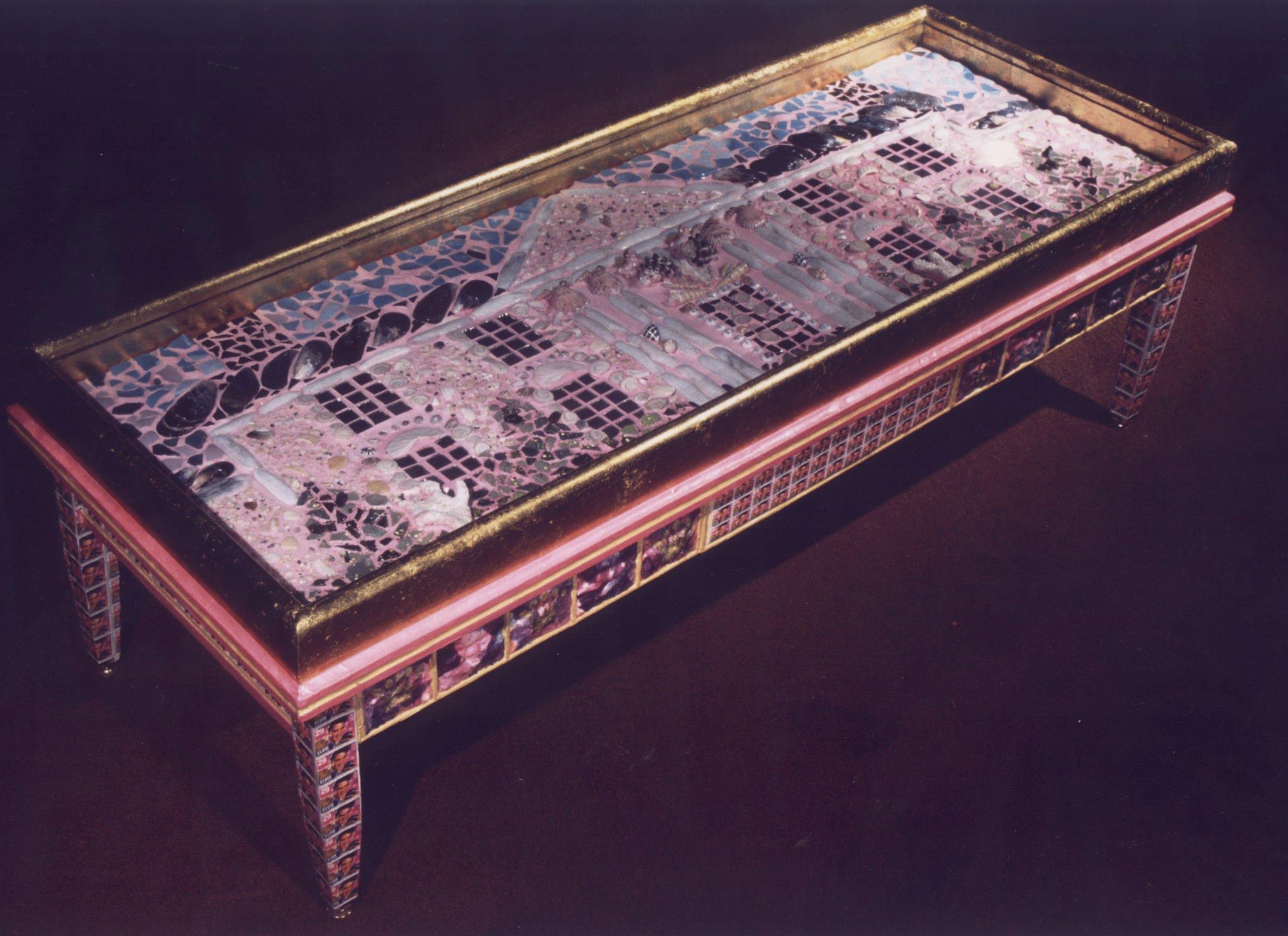 Elvis Mosaic Graceland Coffee Table