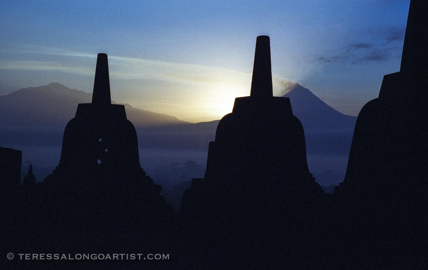 Stupas at Borobudur, Indonesia
