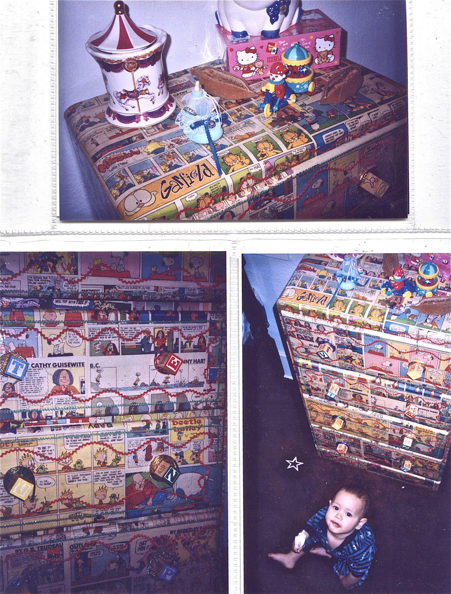 Funny Papers Repurposed Dresser