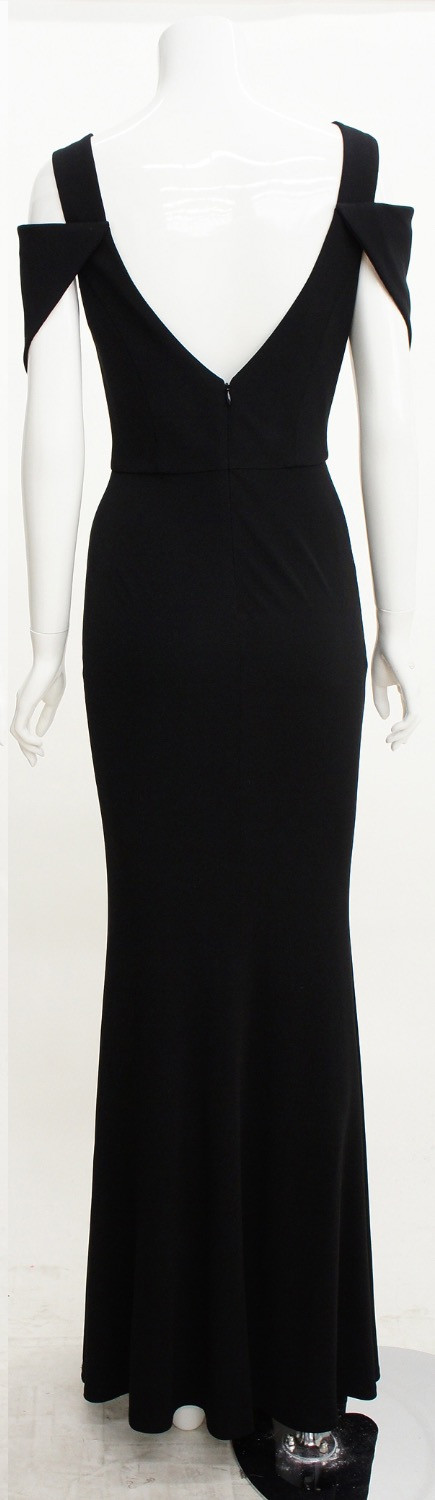 ABS by ALLEN SCHWARTZ V NECK GOWN