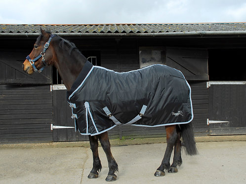 Elite Supa Stable Quilt with neoprene collar - Black