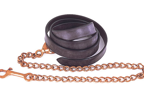 English Leather Lead And Chain
