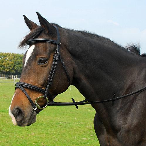 English Leather Bridle With Flash Noseband