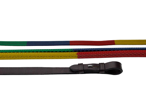 Windsor Multi Coloured Rubber Covered Reins