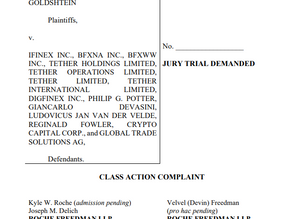 Class Action Lawsuit Filed Against Tether and Bitfinex