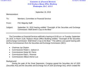 US Congress and SEC book a date