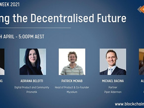 Building the Decentralised Future - Blockchain Week Event