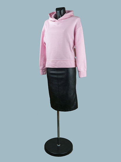 Розовый женский свитшот с капюшоном   chichi
