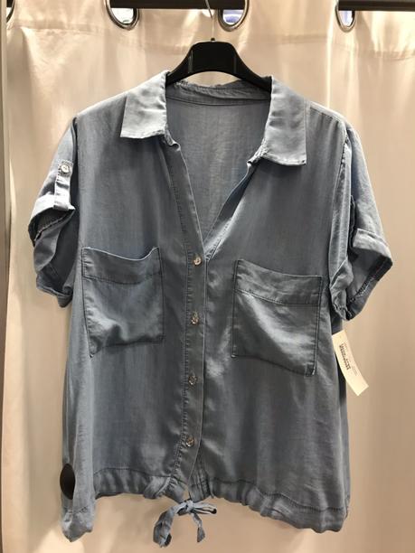 Блузка голубая 25580610