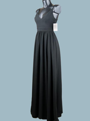Вечернее платье в пол черное 1758