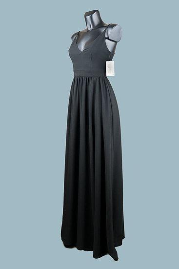 Платье для выпускного 2020 в пол черное
