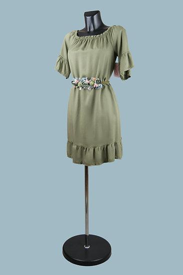 Платье мини летнее хаки. Италия. Лиоцелл. Размер: 42-48