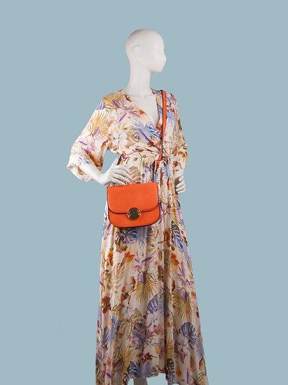 Длинное летнее платье с тропическим цветочным принтом