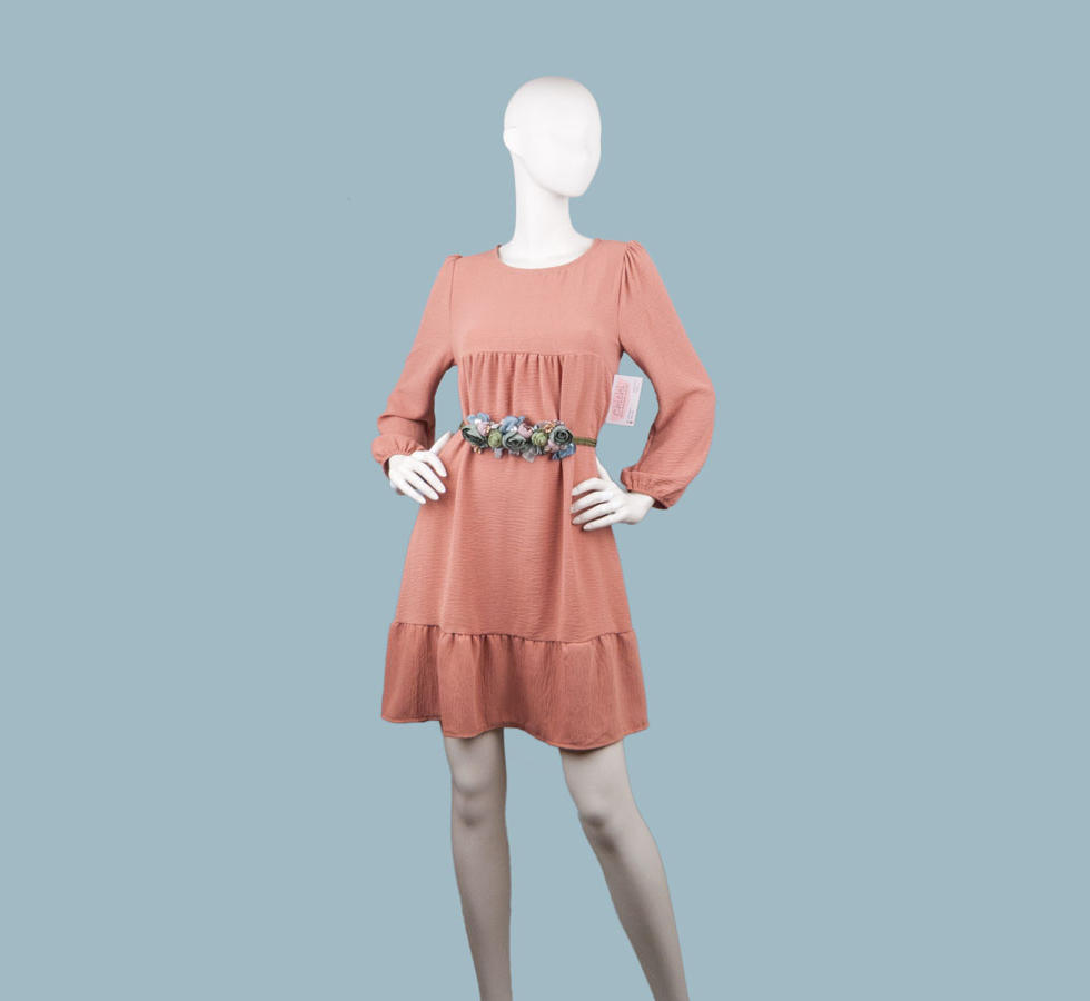 Платье  персиковое 2585