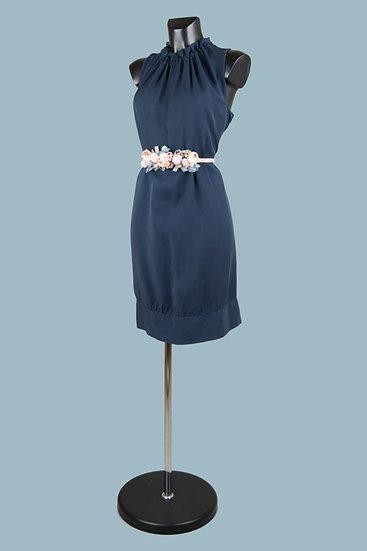 Летнее синееплатье миди. Италия. 100% лиоцелл. Размер: 42-48.