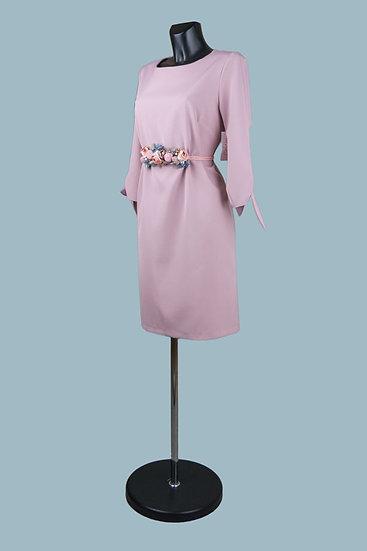 Нарядное платье миди розовое 1873
