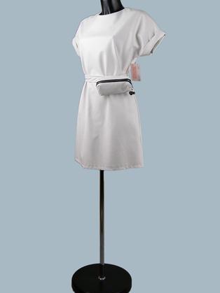 Платье  кожаное белое 25070110