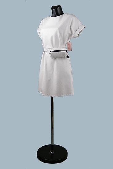 Кожаное белое платье- купить в магазине Chichi  Королев Гелиос
