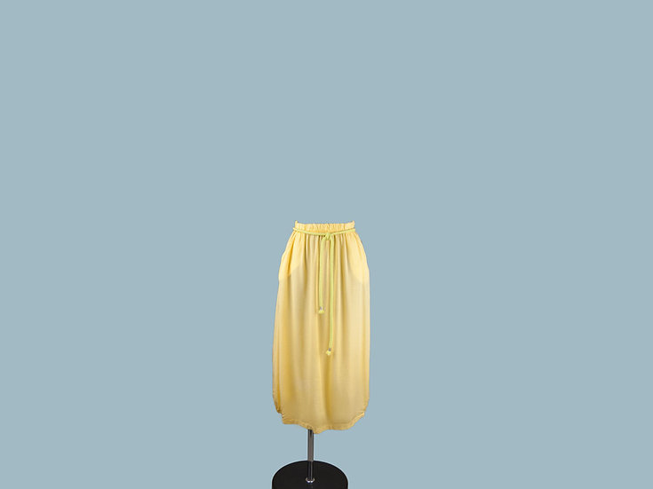 Юбка из лиоцелла  желтая 2265