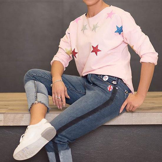 18612010 свитшот розовый с блестящими звездами