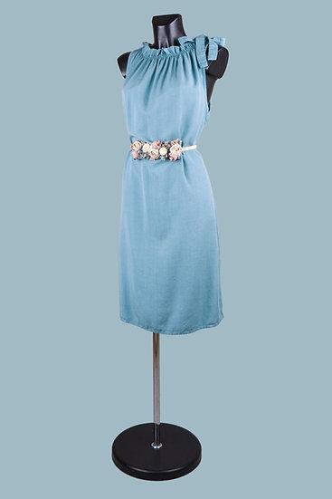 Летнее платье миди светло джинсовое. Италия. 100% лиоцелл. Размер: 42-48