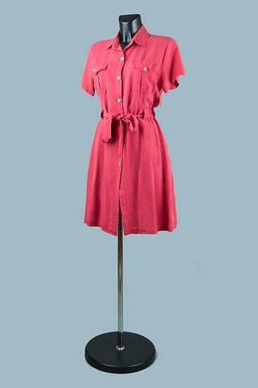 Летнее платье на застежке красное. Италия. Лиоцелл. Размер: 44-46