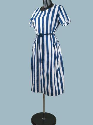 Платье летнее в синюю полоску
