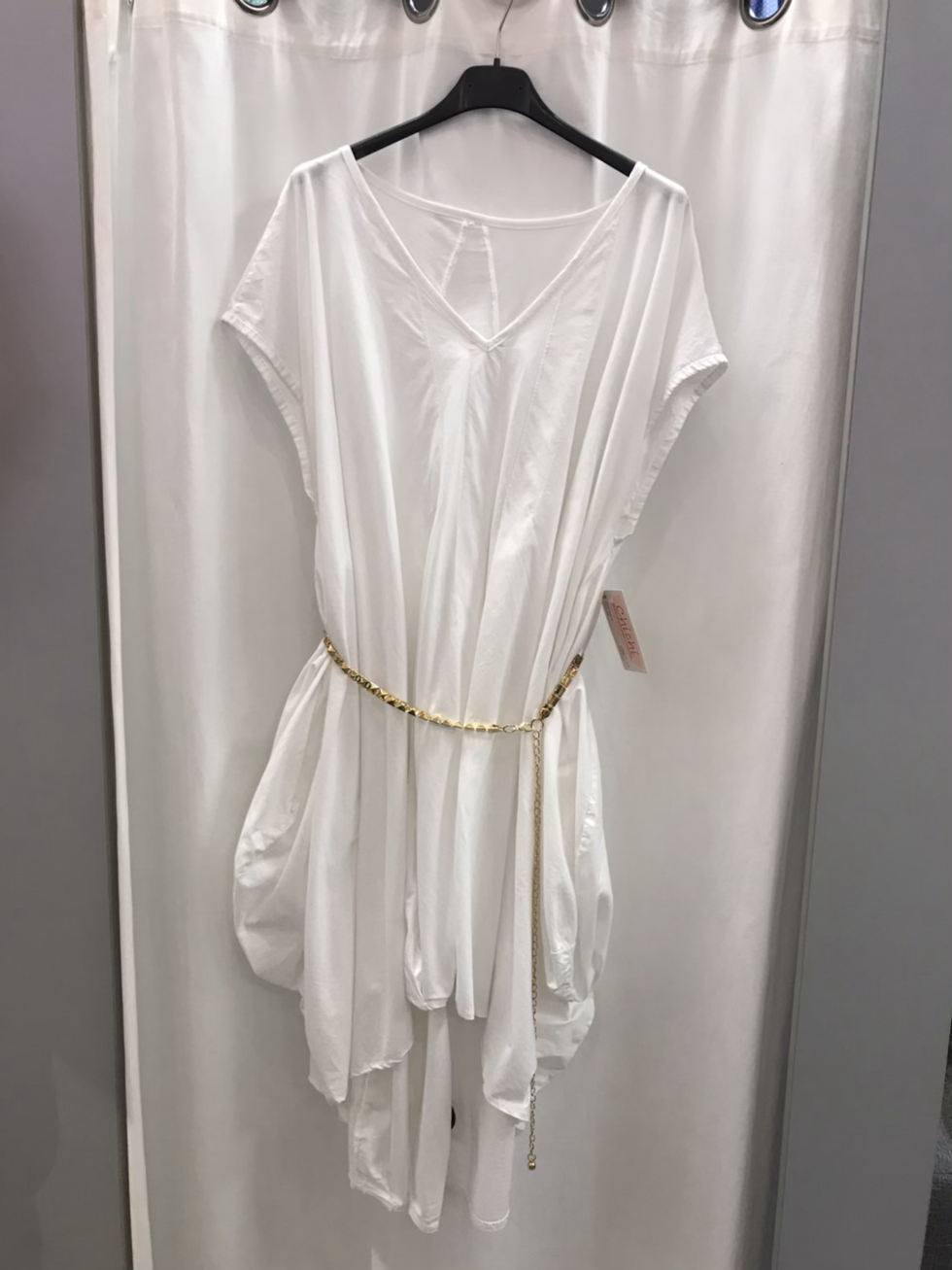 Платье - туника белое 19400110