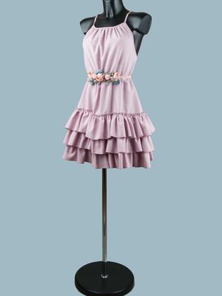 Нарядное платье розовое