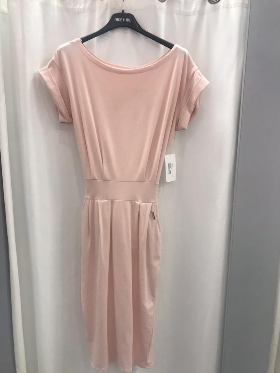 Платье трикотажное розовое 11221610