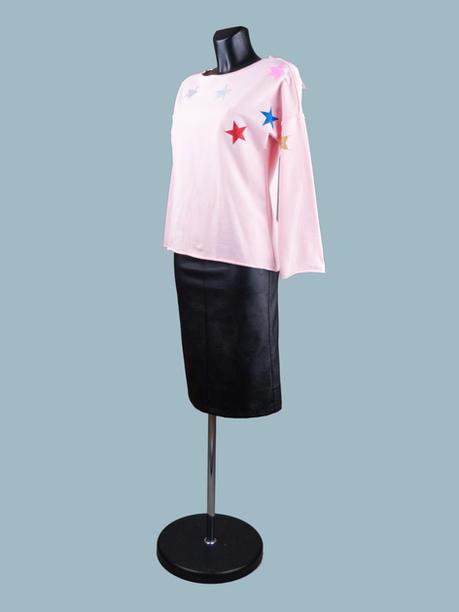 Розовый  женский свитшот с рисунком