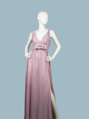 Вечернее платье в пол розовое 1773