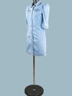 Платье джинсовое  на пуговицах светлое