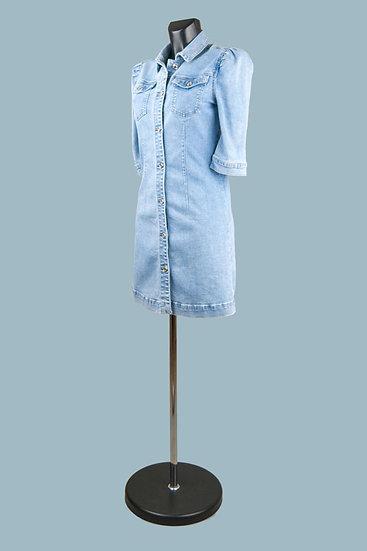 Джинсовое платье светлое. Италия. Размер: 40-46
