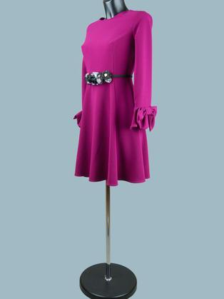 Платье с пышной юбкой  сиреневое 1753