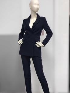 Брючный костюм темно синий 26321542