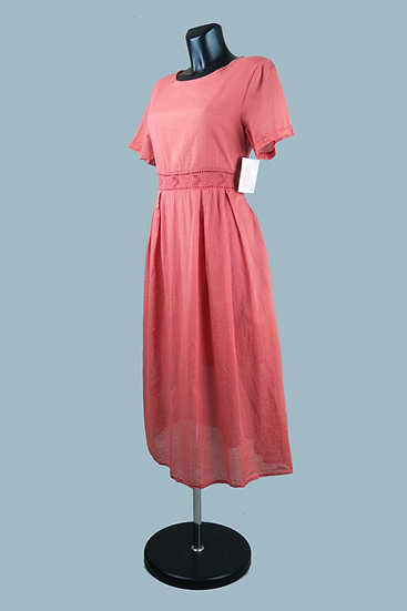 Летнее платье на подкладке терракот. Польша.Размер: 46-50
