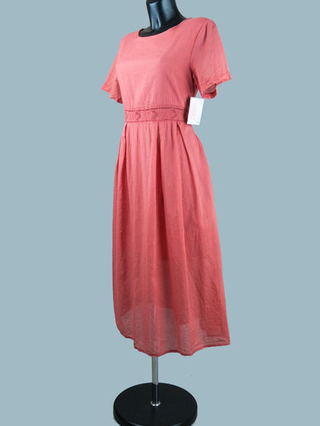 Платье летнее миди терракот