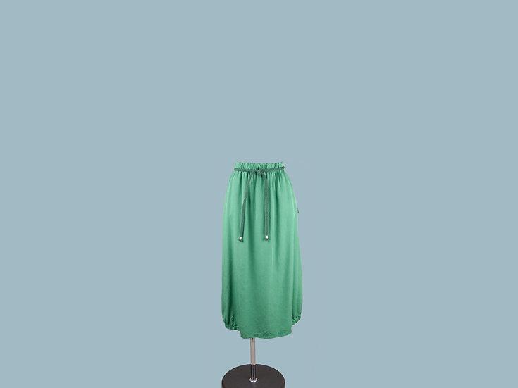 Юбка из лиоцелла зелёная 2265