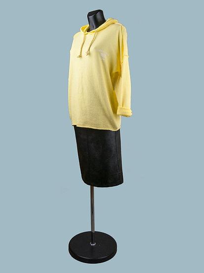 Желтый женский свитшот с капюшоном | chichi