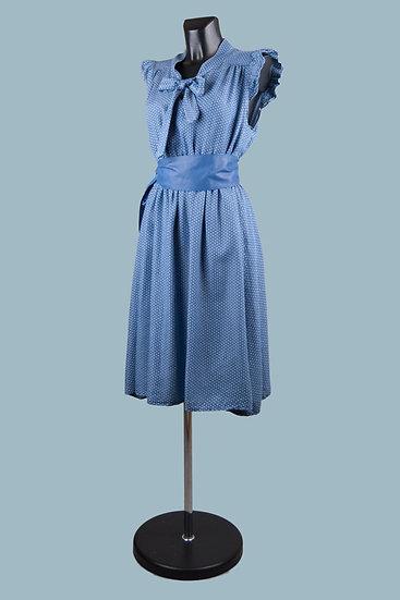 Летнее платье в горошек джинсовое. Италия. Лиоцелл. Размер: 44-50