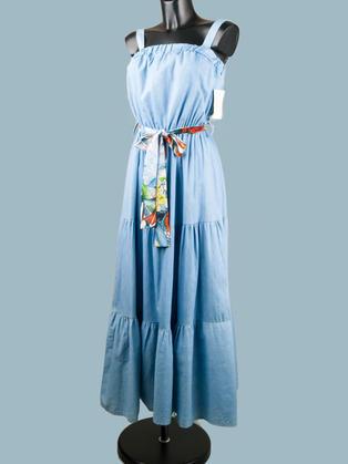 Платье -сарафан голубое 1927