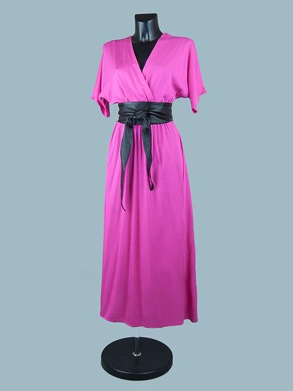 Летнее вискозное длинное платье с запахом | chichi