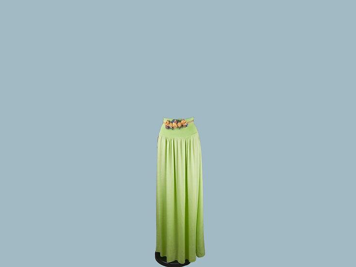 Юбка макси  салатовая