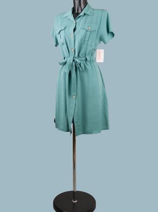 Платье сафари мятное