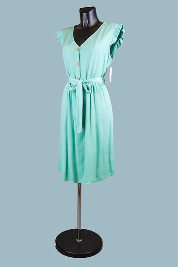 Летнее платье салатовое. Размер: 44-46. Италия. Вискоза
